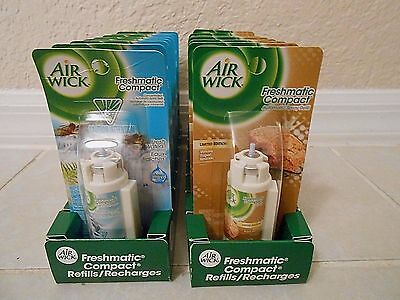 8 Air Wick Freshmatic Compact Spray 2 different  fragranc Refills new ///