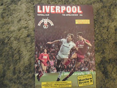 Programme   Liverpool v Newcastle  Division One 1986-87 - Mint Condition.
