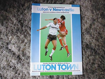 Programme  Luton  v Newcastle   Division One 1987-88 - Mint Condition.