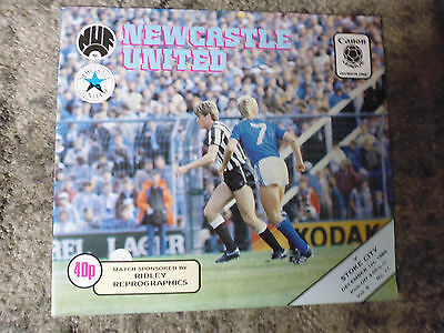 Programme Newcastle v Stoke Division One 1984-1985 - Mint Condition.