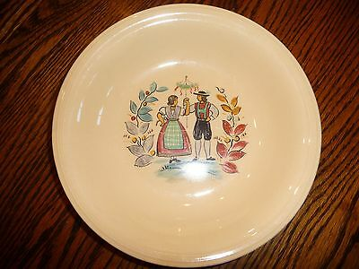 Rare Vintage Edwin Knowles Pottery Mayflower Pattern Bowl~ Made in U.S.A.