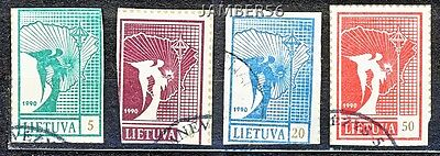 Litauen Lithuania Lituanie Lietuva used stamps 1990 Angels 2nd edition