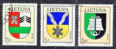 Litauen Lithuania Lituanie Lietuva used stamps 2006 Towns Coat of Arms