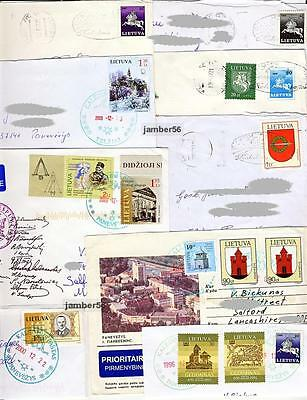 Lithuania Litauen Lietuva 7 used covers collection  special Christmas postmarks