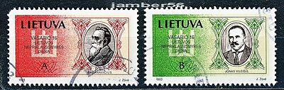 Lithuania Litauen Lituanie used stamps Independence Day signatories 1993