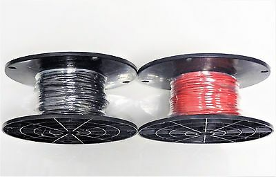 16 Gauge Wire Red & Black 100 Ft Ea On Spool Primary Mtw Stranded Copper Power