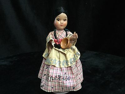 Small vintage doll. Mexico written in glitter on dress. Possibly souvenir