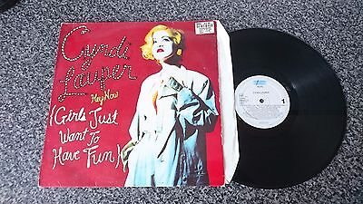 """Cyndi Lauper Hey Now (Girls Just Want To Have Fun) 12"""" Epic 1994"""