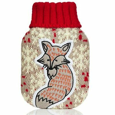 Reusable Hand Warmer - Fox Snowflake Handwarmer. Knitted cover