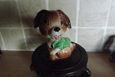 Vintage,Weatherby Pottery,Comical Rabbit Hand Painted,Glazed  Good Condition