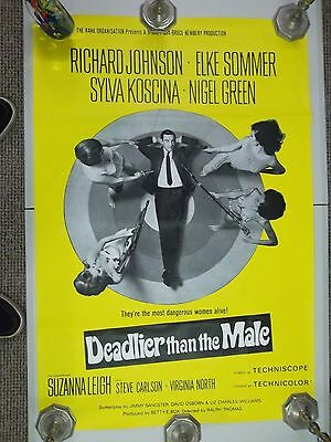 Deadlier Than The Male. Uk Quad Poster