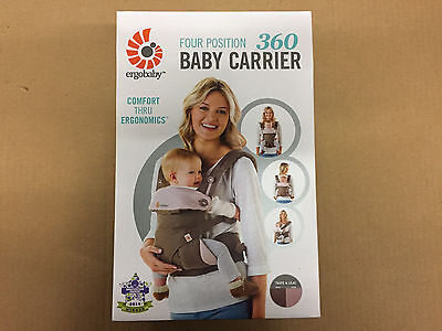 Ergo Baby Four Position 360 Carrier - Taupe/Lilac - New, Authentic
