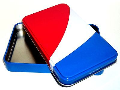 """PEPSI Colored Small Empty Tin (Used To Hold Lip Balms) NEW 5 3/4"""" x  3 1/2"""""""