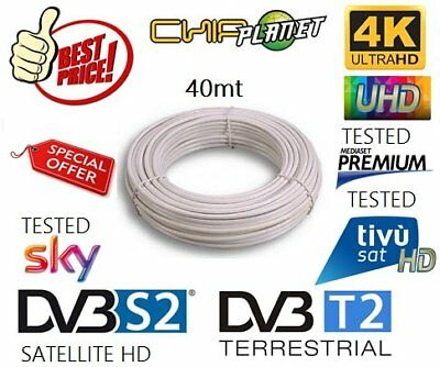 Cavo Antenna Tv Satellitare Terrestre Matassa 40Mt 5Mm