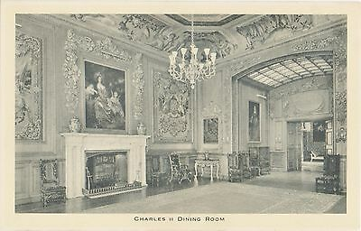 Windsor Castle,Charles II Dining Room(R.Tuck-State Apartments series C)
