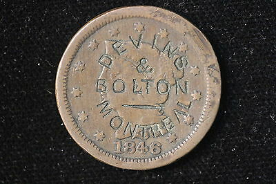 1846 United States. One Cent. Braided Hair. Devins & Bolton Montreal Ch. MT-2A2