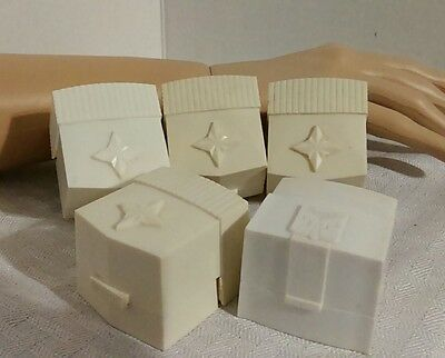 Vintage Ring Boxes Presentation Mid-Century Plastic Lot Of 5