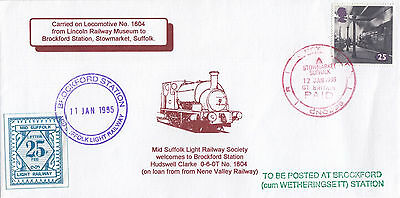 RAILWAY :1994 MID SUFFOLK LIGHT RAILWAY-  Welcome to 0-6-0T 1604 cover