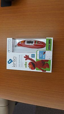 NIB Kinsa Baby Children's Smart Ear Thermometer Sesame Street Elmo Red BlueTooth