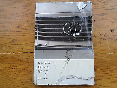 Lexus IS 200/300 Owners Handbook/Manual 99-05
