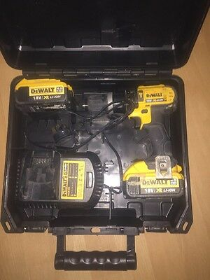 DeWalt DCD785 18v Cordless Drill + 2 X 4Ah Battery's w/ Charger