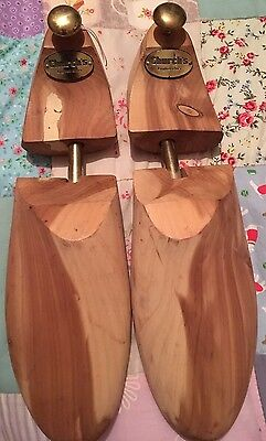 Genuine Antique Church's Wooden And Brass Shoe Stretchers