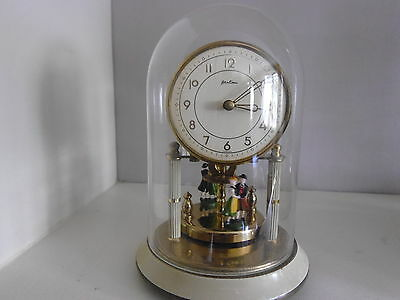 Small Bentima 400 Day Anniversary Clock. Working. Disc Pendulum. Dancers