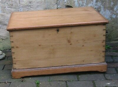 A Victorian pine Blanket box(ideal Coffee Table)