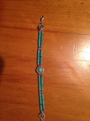 Beautiful South Western Sterling Silver And Turquoise Bracelet