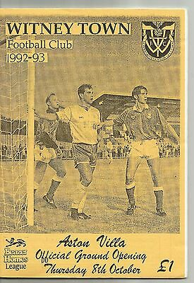 Witney Town v Aston Villa 8.10.92 (Official Opening of Ground)