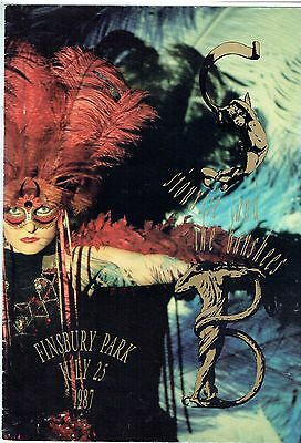 Siouxsie and the Banshees Programme Finsbury Park 25 July 1987
