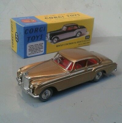 CORGI no.224 BENTLEY CONTINENTAL SPORTS SALOON + free repro BOX