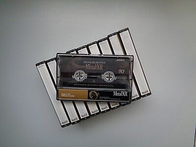 10 Audio Cassette Tape SONY Metal XR 90 - Great Condition