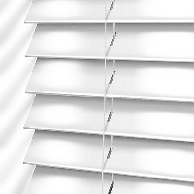 Venetian blinds (white wood) made to measure-25mm.35mm & 50mm slats sizes