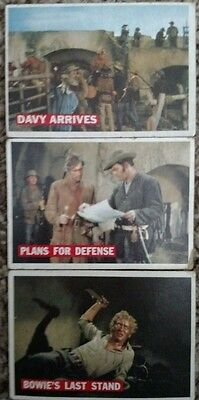 Davy Crockett King of the wild frontier trading cards