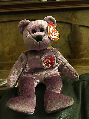 Ty Beanie Signature 2000 Bear - Mint with hang tag