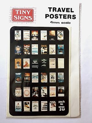 TINY SIGNS 4mm Scale Travel Posters. Pack No. 78