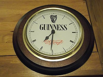 Lovely Collectable Guinness Wall Clock, Good Condition working, Battery Operated