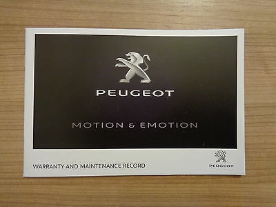 Peugeot NEW Service History Book