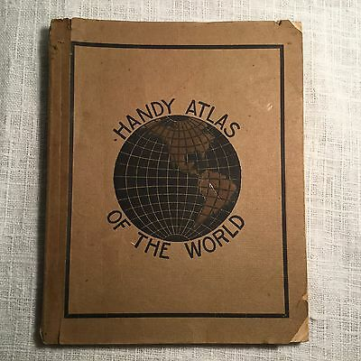 Antique Book, c.1905, Cram's Handy Reference Atlas of the World -Illustrated