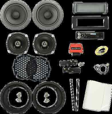 Biketronics Titan Turnkey 4 Speaker Radio Package 98-13 Harley Touring FLHX FLHT