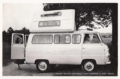 Martin Walter Dormobile 4 Berth Caravan On Ford Thames, Period Photograph.
