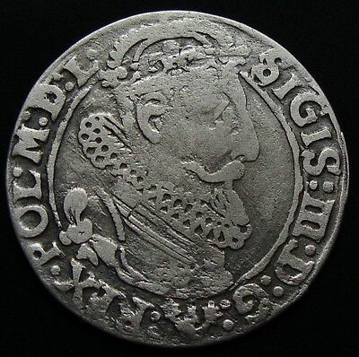 Poland-Lithuania Silver 6 Grosz Crowned Sigismund Iii 1624