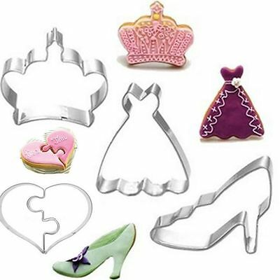 Crown Love Cookie Cutter Stainless Steel Baking Mold Biscuit Cake Decoration