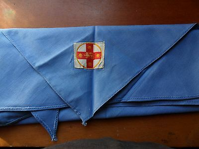 Vintage NSW State Scout Scarf with Ribbon Badge from the early 1950's