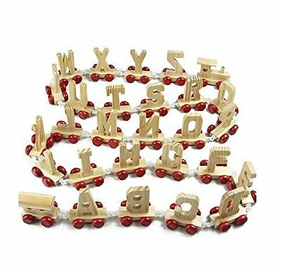 Wooden Alphabet Name Train Letters FULL Train Names as Children Gift