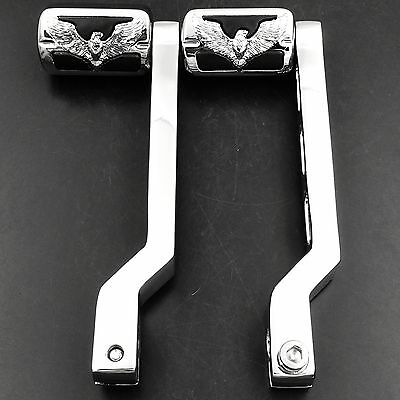 Chrome Eagle Hawk Emblem Gear Shift Foot Lever pegs for Harley Touring Electr