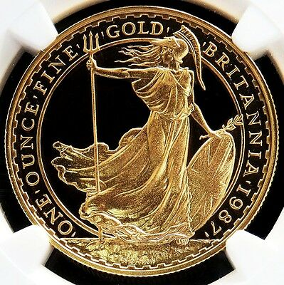 1987 Gold Great Britain 100 Pounds Coin Ngc Proof 69 Ultra Cameo