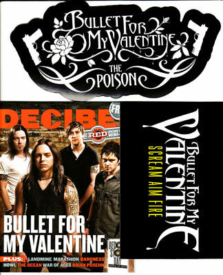 BULLET FOR MY VALENTINE MAGAZINE+2 PROMO STICKERS The Poison/Scream Aim Fire