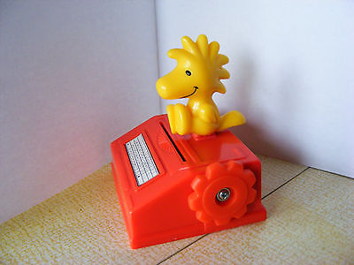 Peanuts Woodstock (Snoopy's Friend) on Typewriter McDonalds Toy. 2000. VGC